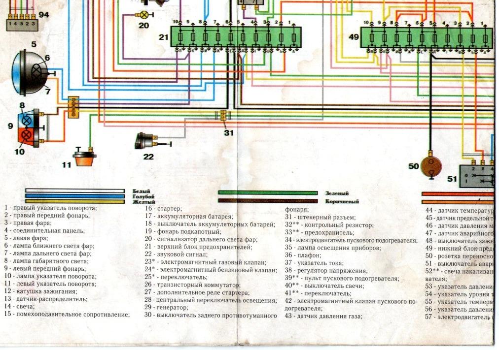 Схема газ 3309 дизель 296