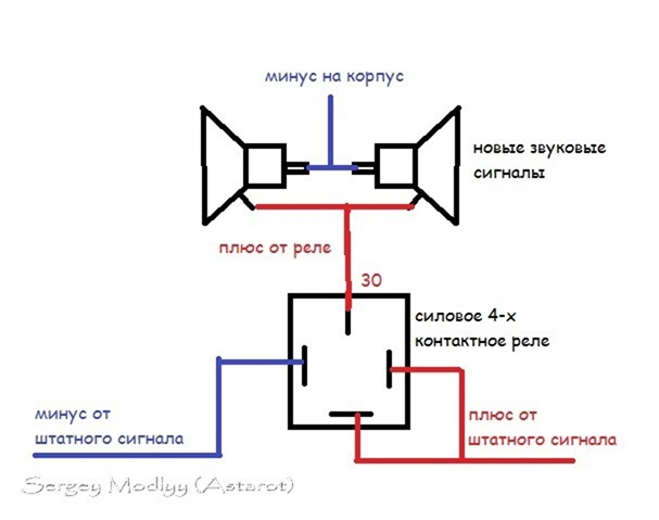 Схема подключения звукового сигнала фото 919