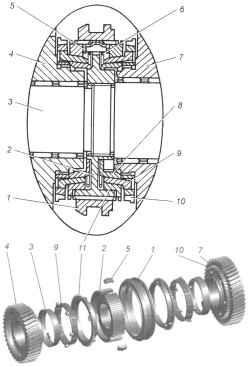 Двухконусный синхронизатор 1-й — 2-й передач