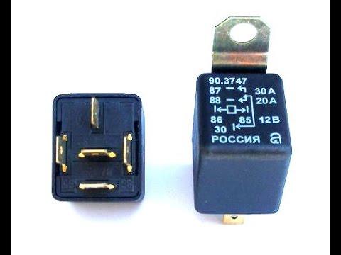 Подключение ПТФ через реле и кнопку