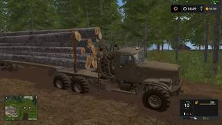 Farming Simulator 2017 Тест мода КрАЗ 255Л